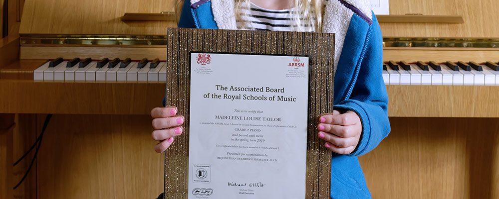 Madeleine music certificate