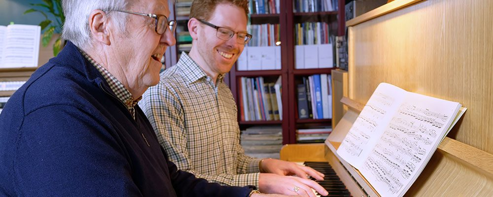 Steve piano lesson